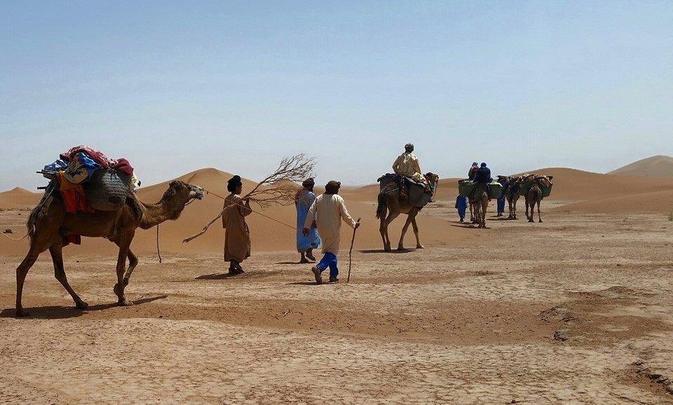 Desert Tours with Camel riding through the Sahara desert