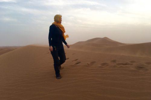 Erg Chegaga in the Sahara Desert, Morocco